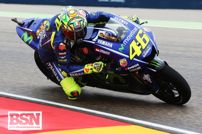 Broken leg and still able to do fast laps at a wet Aragon...