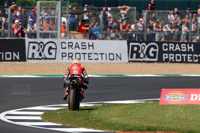 Brookes limps out of race one with an 'electrical fault'