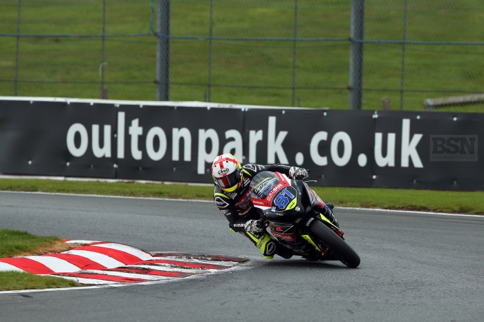 Builbase Suzuki's Luke Stapleford in action during last week's test