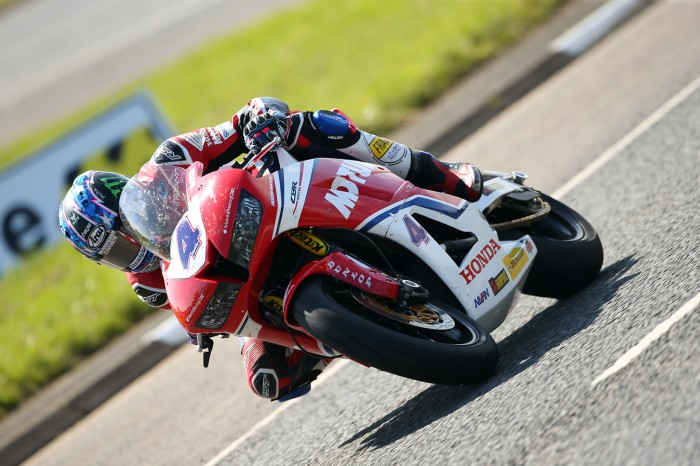 Ian Hutchinson during the first Supersport sessions