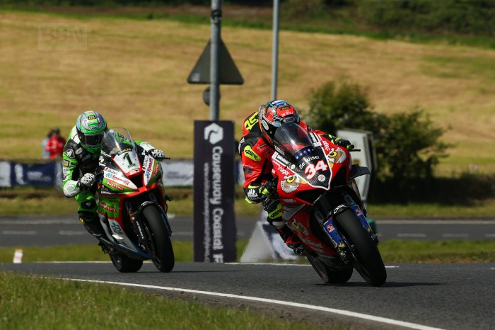 Glenn Irwin chasing best friend in the world Alastair Seeley in qualifying