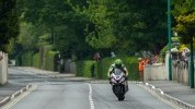 Hillier on the brakes into Ramsey in today's Senior
