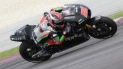 Sam Lowes in action on the Aprilia