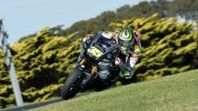 Cal Crutchlow at the top of Lukey Heights