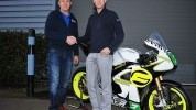 Johnson with WK Bikes MD Mike Hinkley