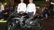 Lintin (right) and Mercer at Motorcycle Live