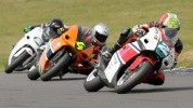 250GP ACU National riders Phil Atkinson (2) and Ant Hodson (4) are separated by just three points