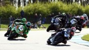 Seeley leads the Supersport pack at Donington