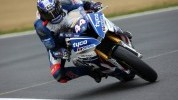 Hutchy meant business today, muscling his way past a handful of backmarkers