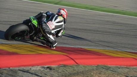 Smart on his out lap at Aragon