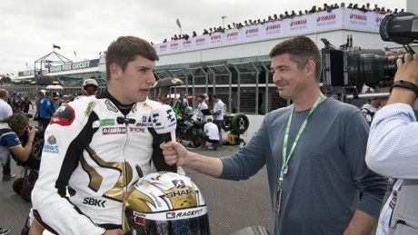 Ryde on the Phillip Island grid with Eurosport's Charlie Hiscott