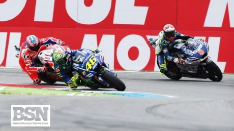 Rossi was pushed all the way by Danilo Petrucci