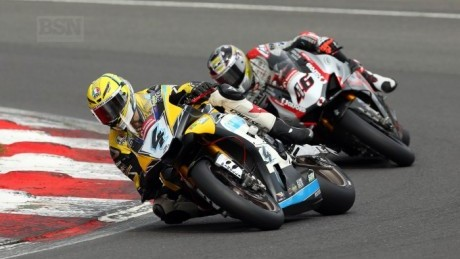 Linfoot sported extra-long Brands-proof crash bungs last time out