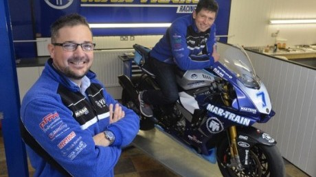 Kneen with Mar-Train boss Tim Martin