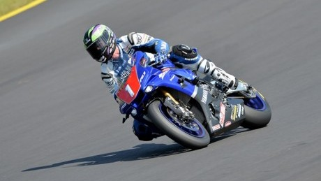 Sideshow Bob on the new R1 at the old Eastern Creek