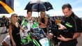 Ellison on the grid before race one at Thruxton
