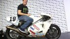 McGuinness will the Abus Norton he will ride in the parade