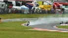 Here is Laverty's bike going up in smoke in race two