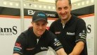 Easton with new team-mate Michael Rutter