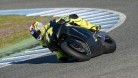 Aegerter on the Akira/Kawasaki bike at Jerez