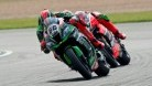 Sykes making a move that stuck on Giugliano to take the victory