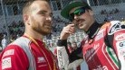 Laverty on the grid with mechanic Andy 'Punching' Carroll