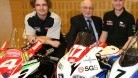 Farquhar and Mitchell-Thomas at the NW200 launch