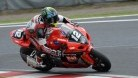 Lowes on his was through the last chicane at Suzuka