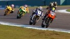 Stapleford leads the Supersport freight train to the chequered flag