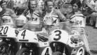 Emde and Aldana pictured with Mike Hailwood and Dick Mann