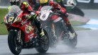 Byrne had a great duel with Linfoot before pulling away