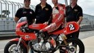 Wolfenden (centre) with rider Jed Metcher and crew Darren Sciberras and Buck Rogers (right)