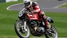 Edwards in action on the 500cc Matchless G50