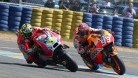 Iannone and Marquez had a proper scrap in the closing stages