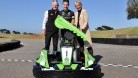 Rea with circuit boss Fergus Cameron and Bass Coast mayor Pamela Rothfield