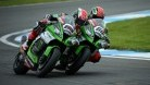 Sykes and Rea banged fairings several times