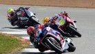Vickers leading WorldSBK exile Xavi Fores at Silverstone