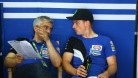 Lowes in conversation with team boss Andrea Dosoli