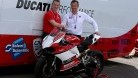 Maccabee with BSB boss Stuart Higgs and a load of Wilf's sponsors at Thruxton