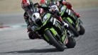 Rea was able to keep Sykes behind him despite the electronics 'ghost'