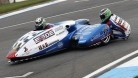 Tim Reeves and Greg Cluze in action at Donington's BSB round