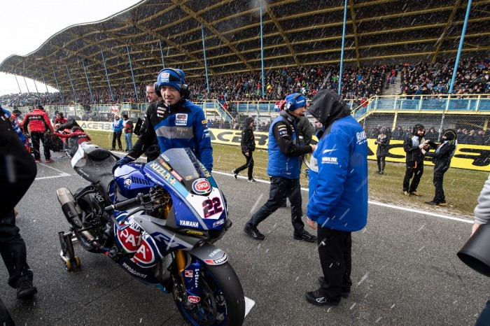 Alex Lowes' mechanic Pete Bancewicz looking cheerful as ever