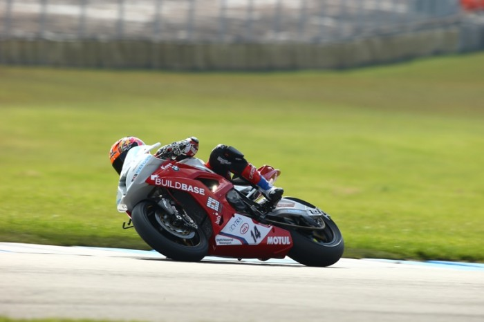 Buildbase BMW's Lee Jackson out on track