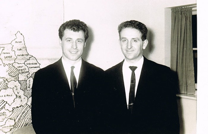 Minter and Seeley (left) in the fifties