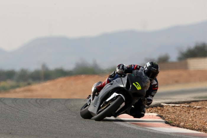 Dunlop in action at the Cartagena test