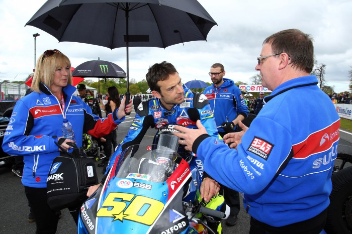 Guintoli is currently championing a GSX-R in British Superbikes