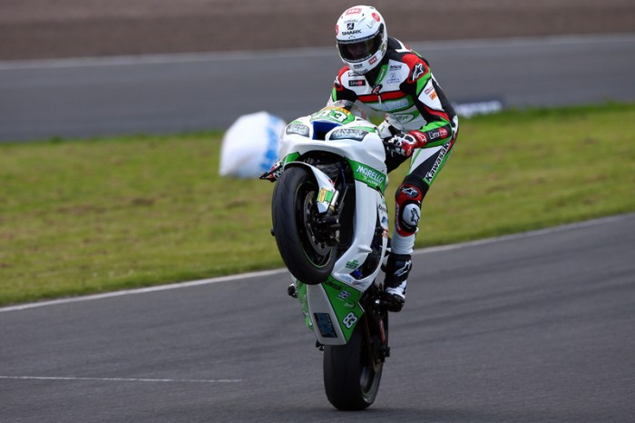 Buchan topped every session this weekend. A justifiable wheelie