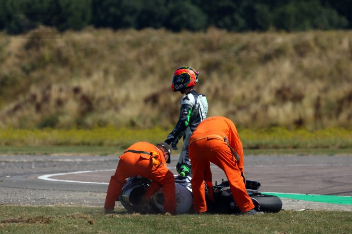 Laverty was taken out in race one...