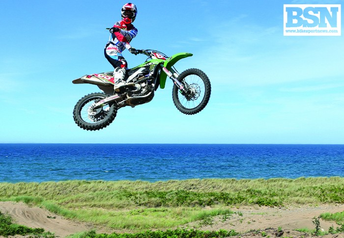 Jonathan Rea during a normal training day...