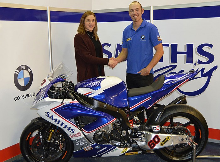 Hickman with Smiths boss Rebecca Smith